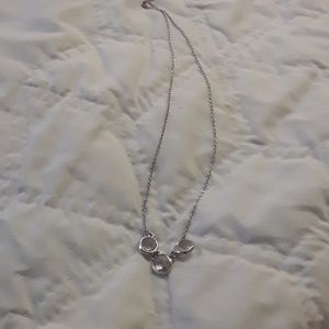 unknown Jewelry - sterling cubic zirconia necklace